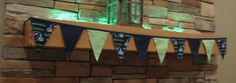 Fabric Banner - Fabric Bunting - NFL Seattle Seahawks – Version 2