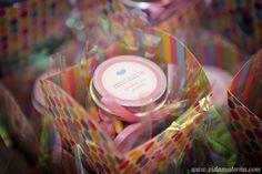 lembrancinha: pote de sopinha com confeti