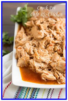 cafe rio shredded chicken recipe instant pot-#cafe #rio #shredded #chicken #recipe #instant #pot Please Click Link To Find More Reference,,, ENJOY!! Cafe Rio Recipes, Restaurant Recipes, Copycat Recipes, Mexican Food Recipes, Dinner Recipes, Mexican Dishes, Mexican Meals, Crock Pot Slow Cooker, Crock Pot Cooking