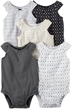 Carter's Baby Girls Multi-Pk Bodysuits 126g548, White, 3 Months Baby. For product info go to: https://all4babies.co.business/carters-baby-girls-multi-pk-bodysuits-126g548-white-3-months-baby/