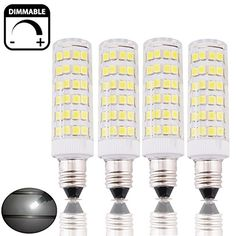 Bonlux Dimmable LED Candle Light Bulb Cool White Halogen Replacement Small Edison Screw SES LED Corn Lamp for Ceiling Fan, Chandelier, Indoor Decorative Lighting, Beside Lamp, Desk Lamp Artwork Lighting, Led Candle Lights, E14 Led, Display Case, Candelabra, Light Decorations, Desk Lamp, Ceiling Fan, Light Colors