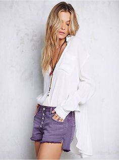 Free People Runaway Slouch Cut Off, $68.00