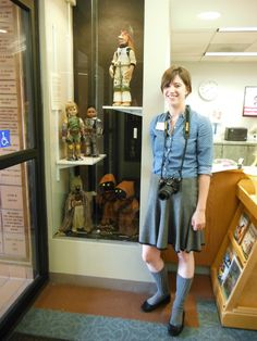 My Star Wars dolls on display for the Star Wars Day at the Lincolnwood Public Library, 07/2014 - 8/2014