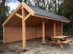 Pergola For Small Patio Pergola Attached To House, Deck With Pergola, Patio Roof, Pergola Patio, Gazebo, Garden Buildings, Garden Structures, Outdoor Structures, Bbq Shed