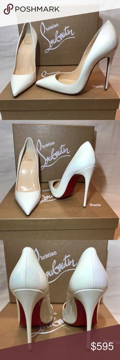 Christian Louboutin So Kate White AB 120mm Sz.37.5 Brand new never worn Christian Louboutin So Kate 120mm Patent Leather White Aurora Boreale Color code: W073. Includes original box, dust bag and heel caps. Christian Louboutin Shoes Heels