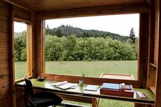 simple cedar writing cottage