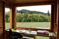 I want: simple cedar writing cottage