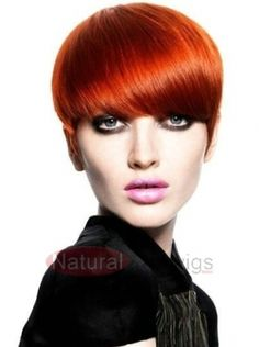 New Fashion Short Hairstyle Cute Straight Soft Light Brown Wig
