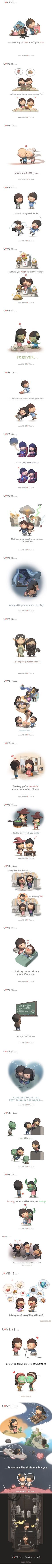 Love is... (Credit: HJ Story)