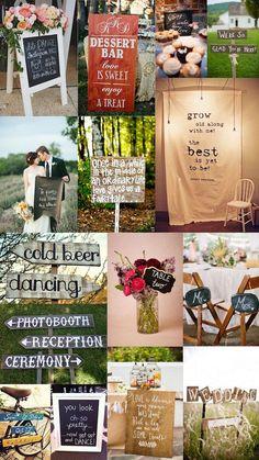 Décor detail - wedding signs