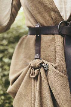 Hanging loop & pin to shorten dress or skirt