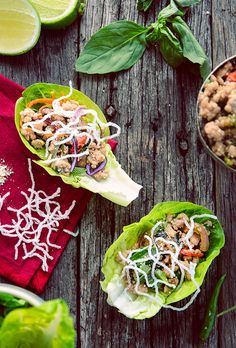 Thai Laab with pork & lettuce wraps