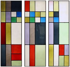 Theo van Doesburg Muse, Stained glass triptych ca.1917