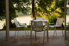 Landi Chair by Hans Coray & Davy Table by Michel Charlot, both designed for Vitra. Get The Originals at www.2ndfloor.gr