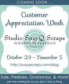 scrapbook customer appreciation week