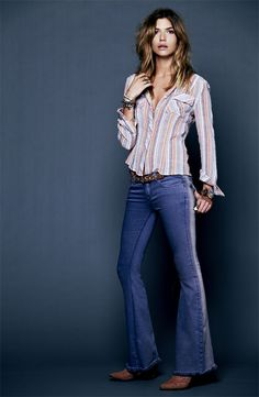 Family Gathering: Free People Shirt & Jeans #Nordstrom #Holiday