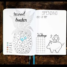 Looking for bullet journal ideas? These creative bullet journal tracker charts will help you get organized, save money, lose weight, and boost your mood! Bullet Journal Tracker, Bullet Journal Mood, Bullet Journals, Journal Layout, Journal Pages, Journal Inspiration, Journal Ideas, Tracker Mood, Bullet Journal Calendrier