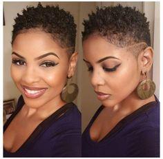 Natural Hair Haircuts, Natural Hair Short Cuts, Short Sassy Hair, Short Hair Cuts, Natural Hair Styles, Natural Hair Twa, Natural Tapered Cut, Pixie Natural Hair, Short Hairstyles