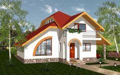 proiecte de case cu semineu House plans with fireplaces 11 Luxury House Plans, Dream House Plans, Glass Brick, Blue Ceilings, Design Case, Second Floor, Home Accents, Accent Decor, Decor Styles
