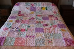 Extra Large Chenille Patchwork Quilt by lyndasdesigns1 on Etsy