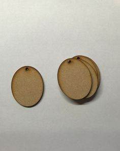 1,95+11,04 5pc wooden 3mm-MDF 50mm and 75mm oval key fob craft blank
