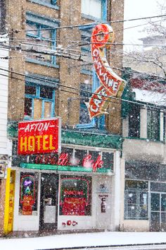 Vintage Signs of The Ovaltine Cafe and Afton Hotel In Vancouver, BC (photo - Scout Magazine) Vancouver Bc Canada, Vancouver City, Vancouver Chinatown, Vancouver Photos, Vintage Neon Signs, Historical Pictures, Street Photo, Beautiful World, Animals Beautiful
