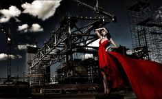 red dress photography - Google Search