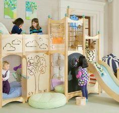 Kinderhochbett design  Wimpelkette