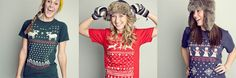 Ugly Christmas sweater T's.. hilarious