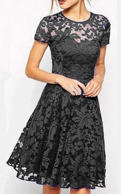 Black Short Lace Dress