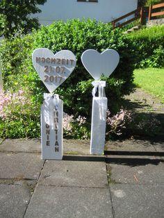 Geldgeschenke - ♥2x XXL Hochzeit Geldgeschenk Landhaus-Dekosäule ♥ - ein Designerstück von Sternenglanz-Clemens bei DaWanda