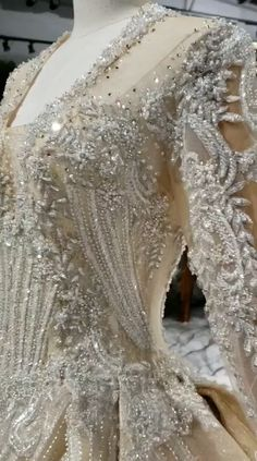 **Rush order please contact us ** Processing time full of high-end hand made business days after payment . Wedding Hijab Styles, Fancy Wedding Dresses, Beaded Wedding Gowns, Wedding Hair Colors, Luxury Wedding Dress, Luxury Dress, Bridal Gowns, Crystal Wedding Dresses, Pakistani Bridal Dresses