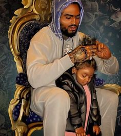 Ashley Straker — Back with a painting for Portrait of. Art Black Love, Black Girl Art, My Black Is Beautiful, Black Girl Magic, Art Girl, Black Art Painting, Black Artwork, Art Afro Au Naturel, Black Fathers