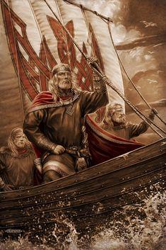 Родные Боги. Картины Игоря Ожиганова. Славянские и скандинавские сюжеты  Рюрик