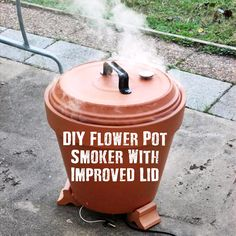 DIY Flower Pot Smoker With Improved Lid,food,smoke,smoking,survival,frugal,DIY,how to,make,homesteading,