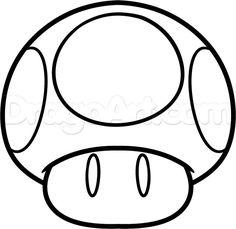 mario mushroom line art Colouring Pages, Coloring Books, Pokemon Fantasma, Cartoon Drawings, Art Drawings, Super Mario Coloring Pages, Mario Crafts, Mushroom Drawing, Super Mario Birthday