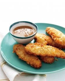 Kid Friendly Chicken Tenders using corn tortillas.  Use cornstarch in place of the flour and egg instead of buttermilk for Gluten free/dairy free.