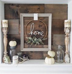 Love the reclaimed wood look and mellow color palette