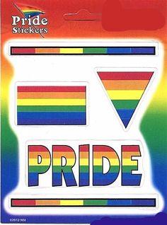Gay Pride Rainbow 5 Pack of Stickers