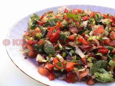 ANTEP-SALATASI-TARİFİ Turkish Salad, Turkish Recipes, Ethnic Recipes, Middle Eastern Recipes, Bon Appetit, Salad Recipes, Side Dishes, Mad, Food And Drink