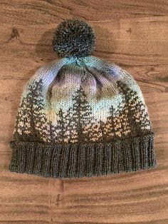Knit a hat that looks like a Bob Ross painting . Knit a hat that looks like a Bob Ross painting . , Knit a Hat That Looks Like a Bob Ross Painting … , Knitting Source by Loom Knitting, Knitting Patterns Free, Knit Patterns, Free Knitting, Kids Knitting, Knitting Charts, Stitch Patterns, Free Pattern, Knitting Projects