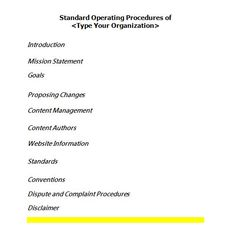 Writing Standard Operating Procedures (Writing SOP | Pinterest ...