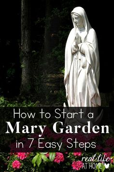 Urban Garden Design Tips and resources to help you create your own Mary Garden at home or at your parish. Prayer Garden, Meditation Garden, Amazing Gardens, Beautiful Gardens, Beautiful Flowers, Organic Gardening, Gardening Tips, Gardening Services, Urban Gardening