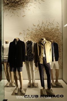 Club Monaco, #NYC featuring #newjohnnissen #mannequins supplied by DK Display Corp.   #clubmonaco #fashion #visual #merchandising