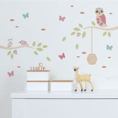 Incredible Unique Ideas: Old Farm Wall Decor large metal butterfly wall decor.Old Farm Wall Decor lion king nursery wall decor with name. Wall Decor Set, Flower Wall Decor, Nursery Wall Decor, Nursery Ideas, Room Ideas, Room Decor, Kids Room Wall Stickers, Wall Decor Stickers, Wall Decals