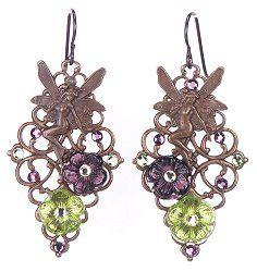 Jewelry Making Idea: Vintage Woodland Faerie Earrings (eebeads.com)