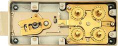 Antique Swiss Bank Safe Deposit Box Combination Lock