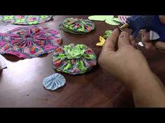youtube porta recado zapatos flores | Mulher.com 14/06/2013 Vera Cunha - Bolsinha porta moedas Parte 2/2