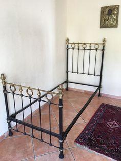 Altes Boulle Bett 1900 Gusseisen ca 90x190 cm  Einrichtung Dekoration Laden