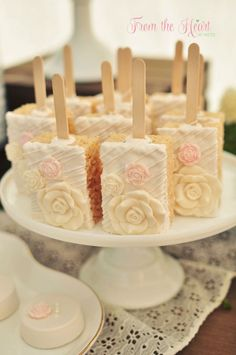 Rice Krispie Treats on Sticks from a Rustic Chic Engagement Party via Kara's Party Ideas | KarasPartyIdeas.com (12)